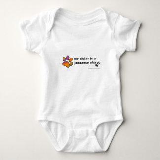 japanese chin baby bodysuit
