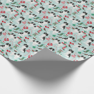 Japanese Chin Christmas wrapping paper