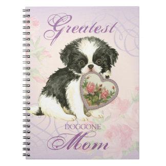 Japanese Chin Heart Mom Notebook
