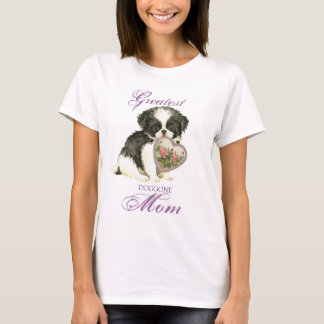 Japanese Chin Heart Mom T-Shirt