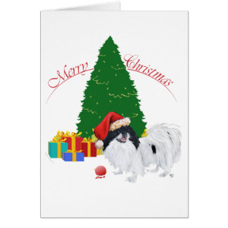 Japanese Chin Merry Christmas Card