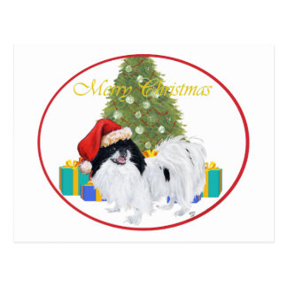 Japanese Chin Merry Christmas Postcard