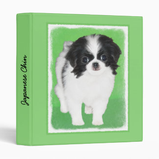 Japanese Chin Puppy Painting - Original Dog Art Binder