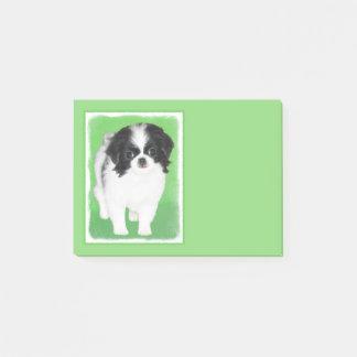 Japanese Chin Puppy Painting - Original Dog Art Post-it Notes