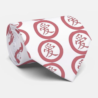 Japanese - Chinese Love 爱 Tie