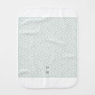"Japanese classic pattern ""SAYA"". Harmony handle Burp Cloth"