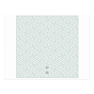 "Japanese classic pattern ""SAYA"". Harmony handle Postcard"