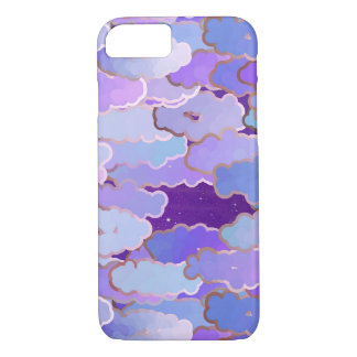 Japanese Clouds, Twilight, Violet and Deep Purple iPhone 7 Case