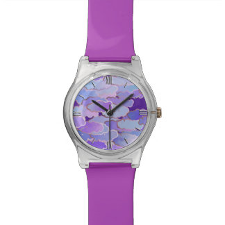 Japanese Clouds, Twilight, Violet and Deep Purple Wristwatches