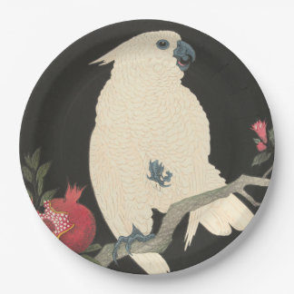 JAPANESE COCKATOO  Paper Plates 9 Inch Paper Plate