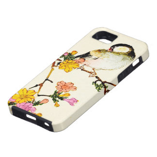 Japanese Colorful Flowers & Bird iPhone 5 Case