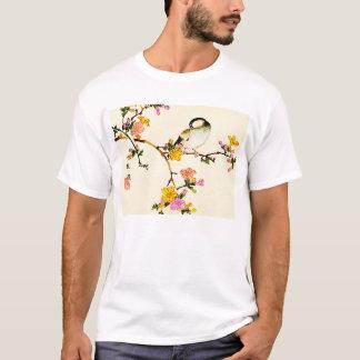 Japanese Colorful Flowers & Bird T-Shirt