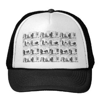 Japanese comic strip trucker hat