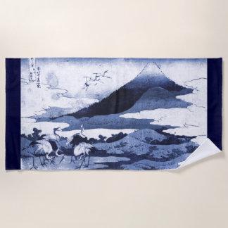 Japanese Crane Beach Towel