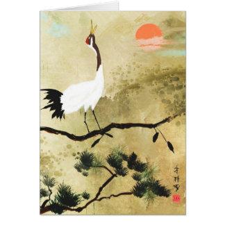 Japanese Crane Greeting Card