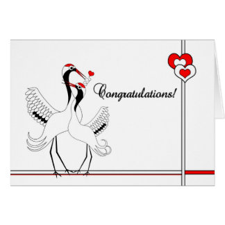 Japanese Cranes A Thousand Blessings Wedding Card