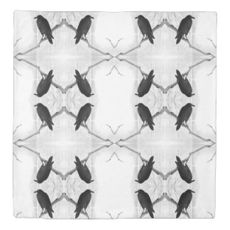Japanese Crow Queen Duvet Cover