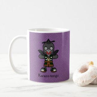 Japanese Crow Tengu: Cartoon Youkai Coffee Mug