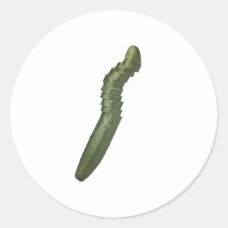 Japanese cucumber round sticker