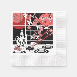 Japanese cuisine paper napkin