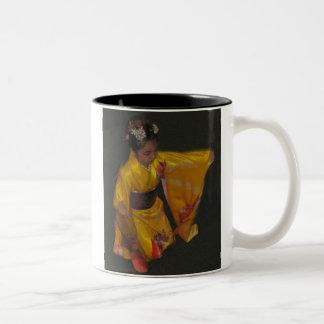 Japanese Dancer 4 Two-Tone Coffee Mug