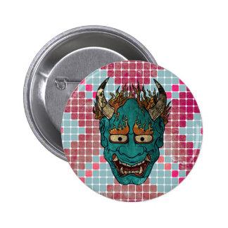 Japanese Demon Pinback Button