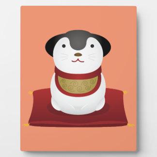 japanese dog ornament plaque