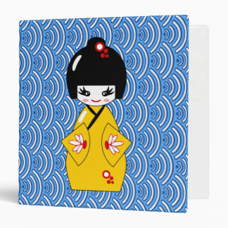 Japanese doll 3 ring binders