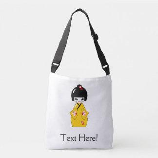 Japanese doll crossbody bag