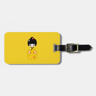 Japanese doll luggage tag