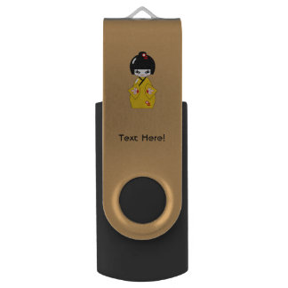 Japanese doll USB flash drive