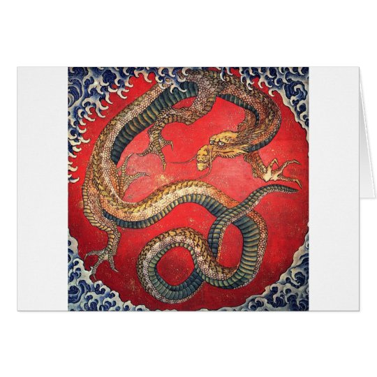 Japanese Dragon Card