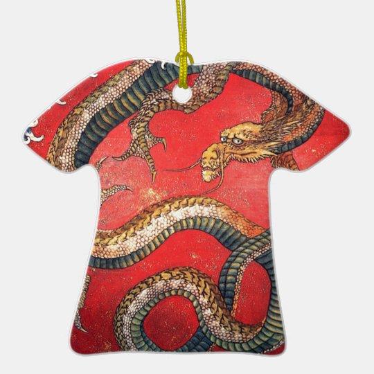 Japanese Dragon Ceramic T-Shirt Ornament
