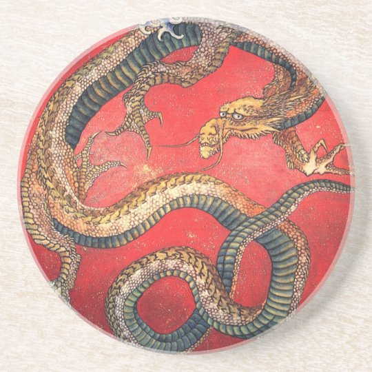 Japanese Dragon Drink Coasters
