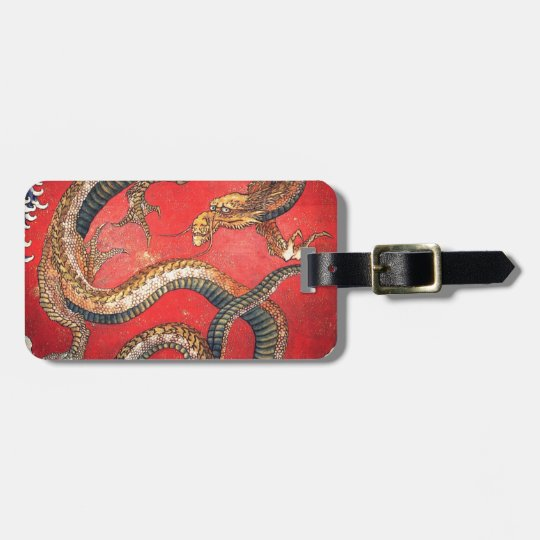 Japanese Dragon Luggage Tag