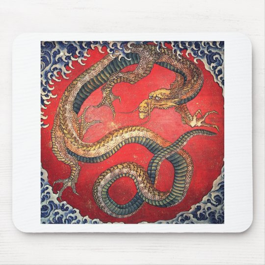 Japanese Dragon Mouse Pad