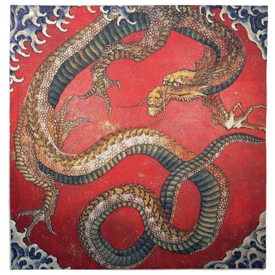 Japanese Dragon Printed Napkins