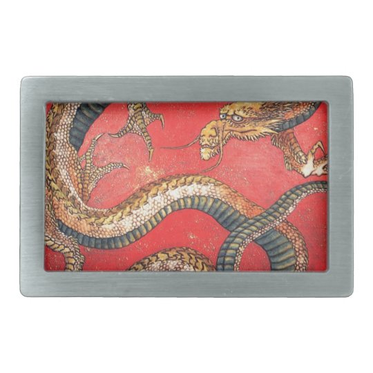 Japanese Dragon Rectangular Belt Buckles