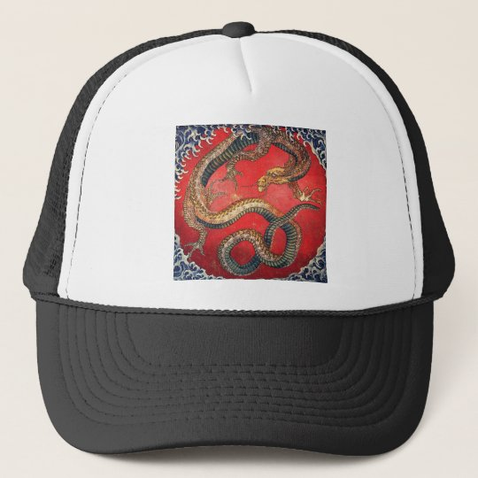 Japanese Dragon Trucker Hat