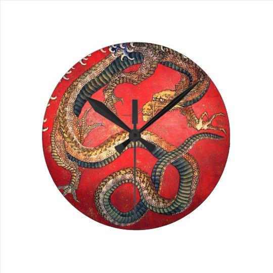 Japanese Dragon Wall Clocks