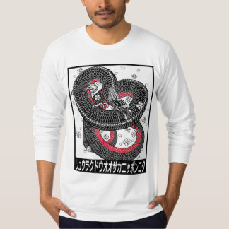 japanese dragon with cherry blossom tattoo t-shirt
