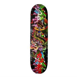 Japanese Dragon with Kanji Graffiti Skateboard