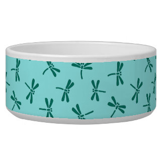 Japanese Dragonfly Pattern, Turquoise and Aqua