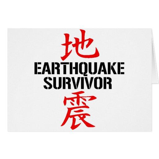 JAPANESE EARTHQUAKE SURVIVOR CARD