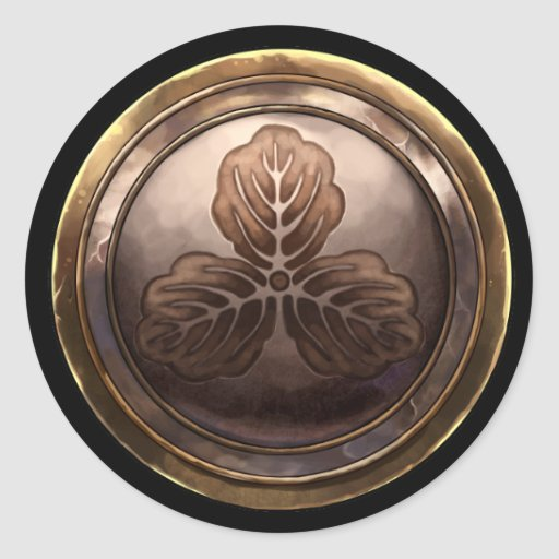 Japanese Emblem (Kamon) Round Sticker