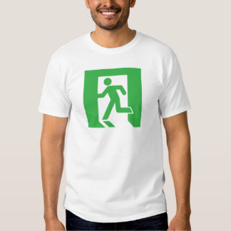 Japanese Emergency Exit Sign T-shirts