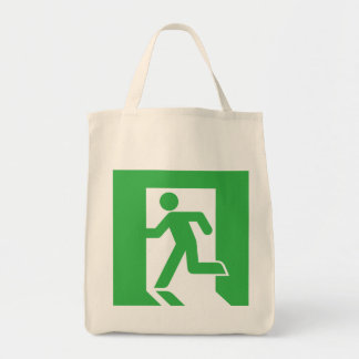 Japanese Emergency Exit Sign Tote Bag