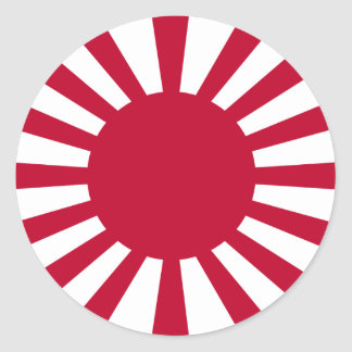 Japanese Empire rising sun (Simple History) Classic Round Sticker