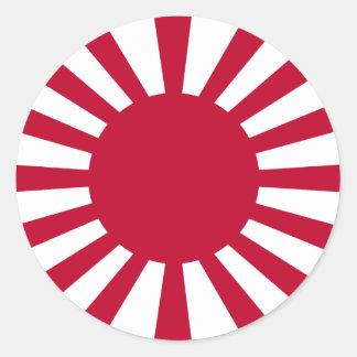 Japanese Empire rising sun (Simple History) Round Sticker