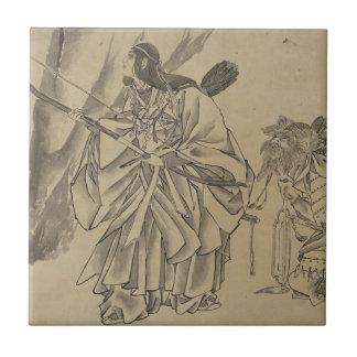 Japanese Empress circa 1800s Tile